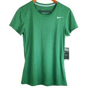 Nike Womens Green Dri Fit Short Sleeve Shirt